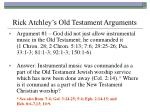 rick atchley s old testament arguments