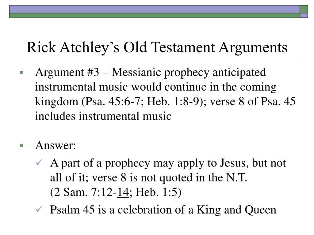 Rick Atchley's Old Testament Arguments