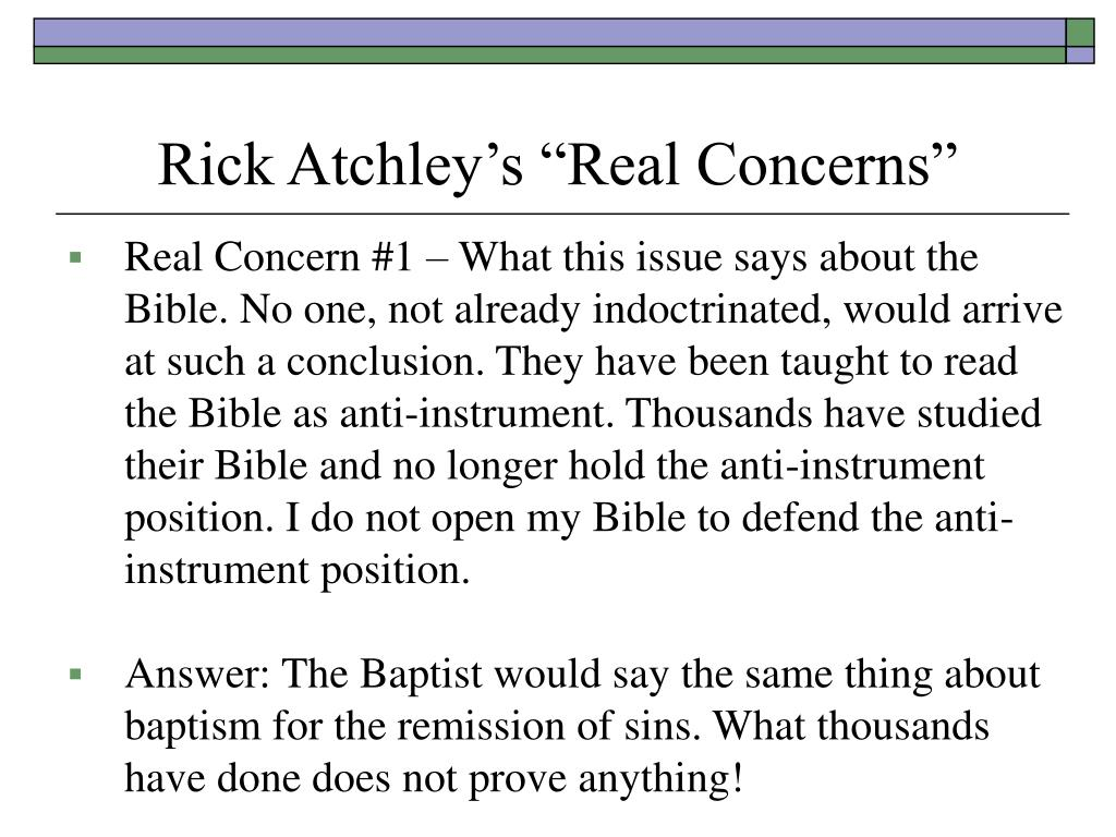 "Rick Atchley's ""Real Concerns"""