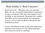 rick atchley s real concerns