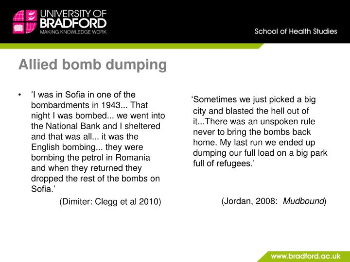 Allied bomb dumping