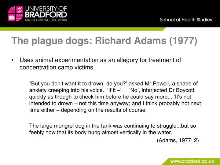 The plague dogs: Richard Adams (1977)