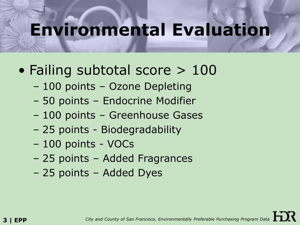 Environmental Evaluation