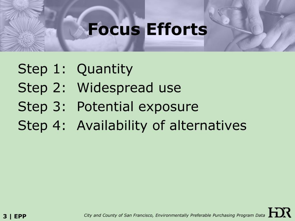 Focus Efforts