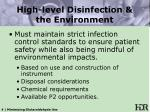 high level disinfection the environment