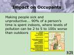 impact on occupants