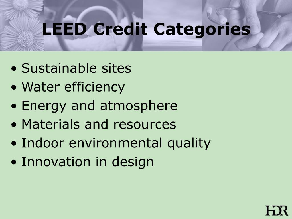 LEED Credit Categories
