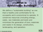 what is sustainable building