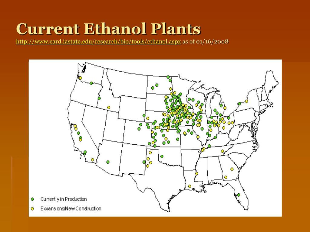 Current Ethanol Plants
