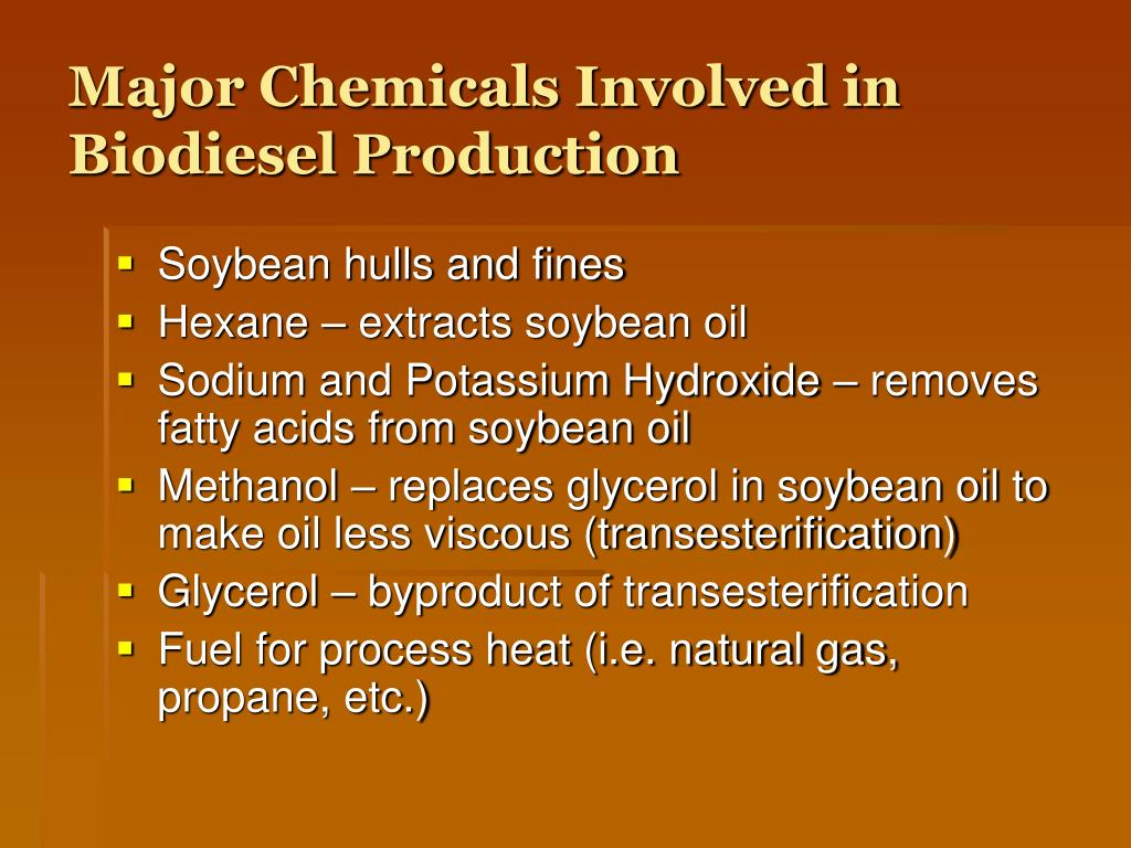 Major Chemicals Involved in Biodiesel Production