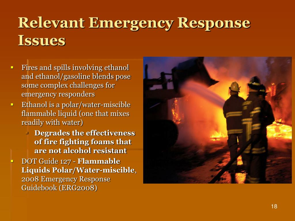 Relevant Emergency Response Issues
