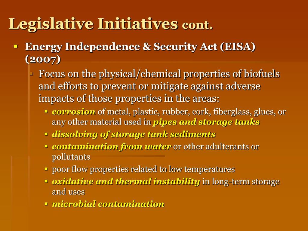 Legislative Initiatives