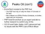 peaks oil con t4