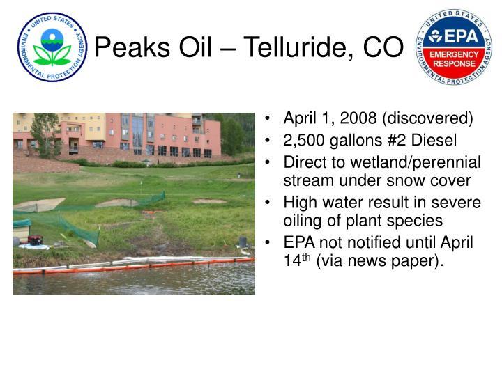 Peaks oil telluride co