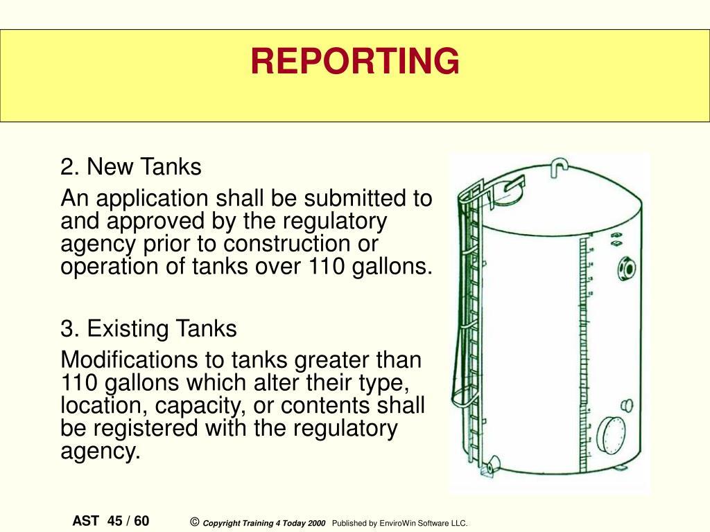 2. New Tanks