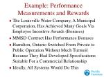 example performance measurements and rewards