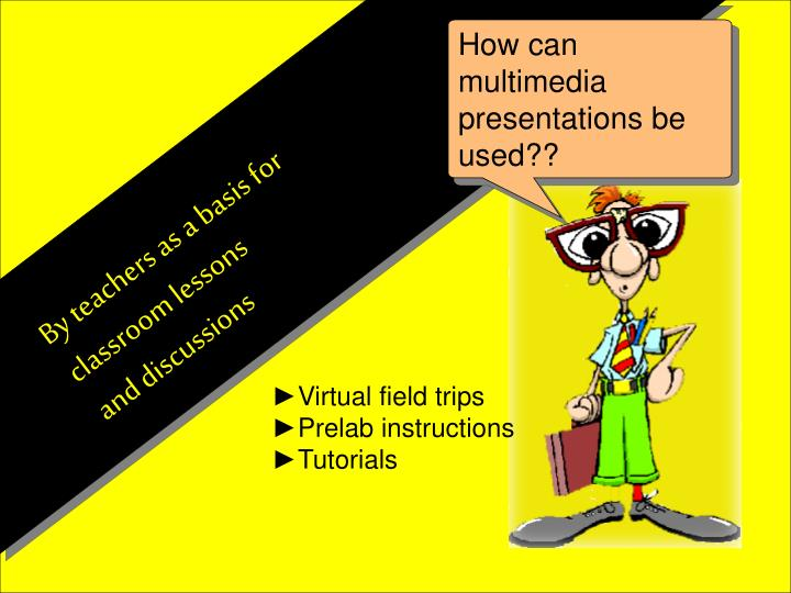 How can multimedia presentations be used??