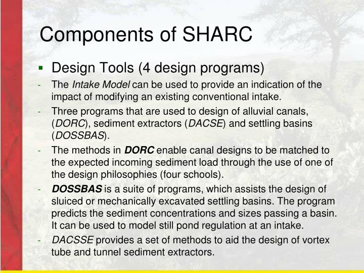 Components of SHARC