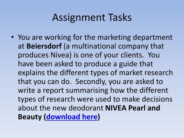 Assignment Tasks