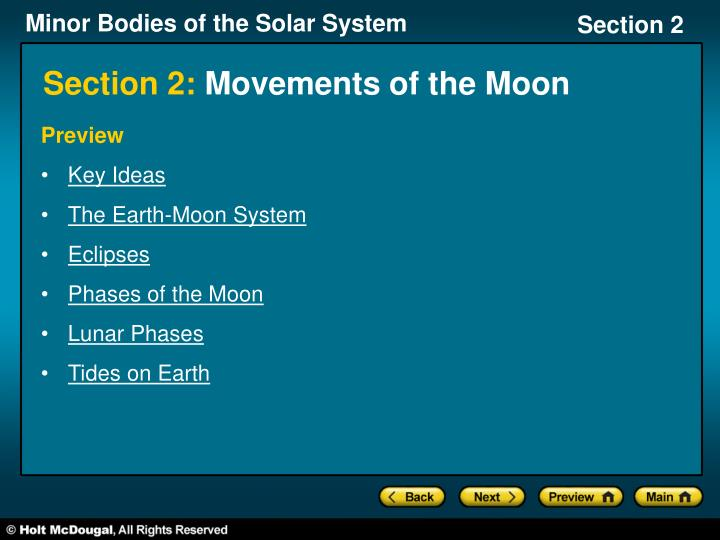 section 2 movements of the moon n.