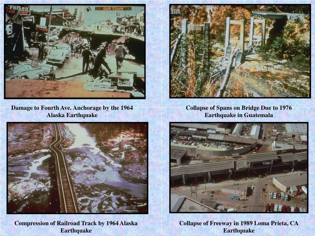 Damage to Fourth Ave. Anchorage by the 1964 Alaska Earthquake