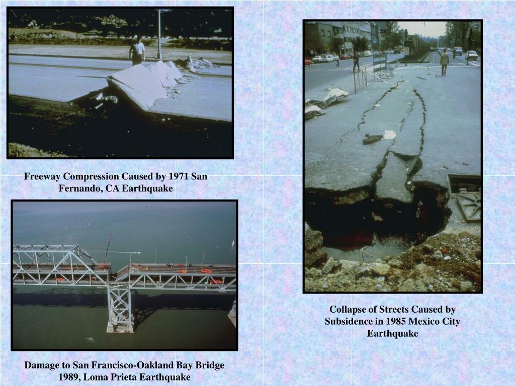 Freeway Compression Caused by 1971 San Fernando, CA Earthquake