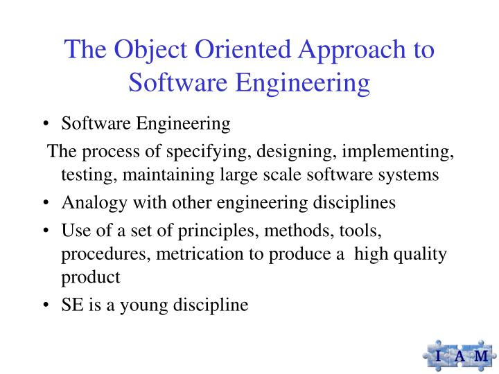 Ppt The Object Oriented Approach To Software Engineering Powerpoint Presentation Id 1363898