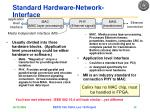 standard hardware network interface