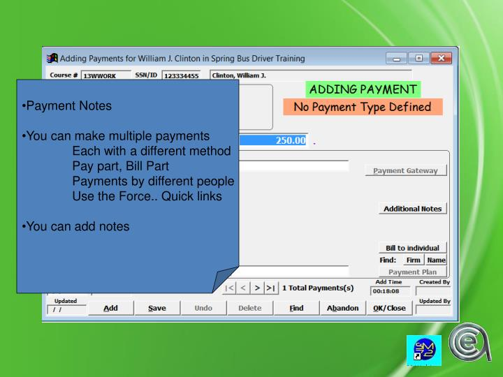 Payment Notes