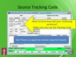 source tracking code