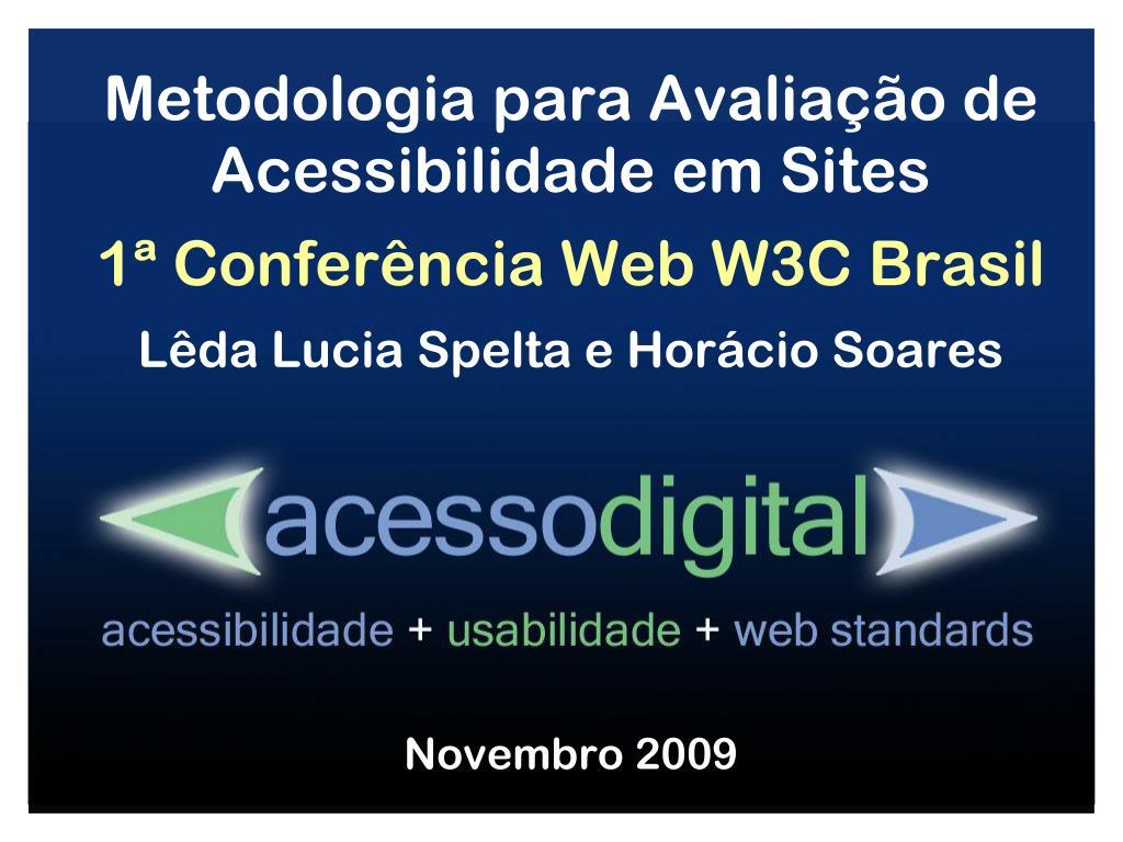 Metodologia para Avaliação de Acessibilidade em Sites