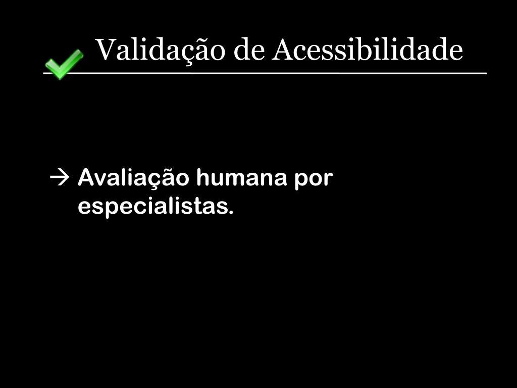 Validação de Acessibilidade
