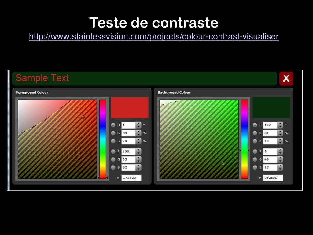 Teste de contraste