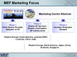 mef marketing focus