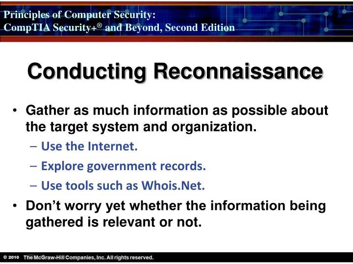 Conducting Reconnaissance