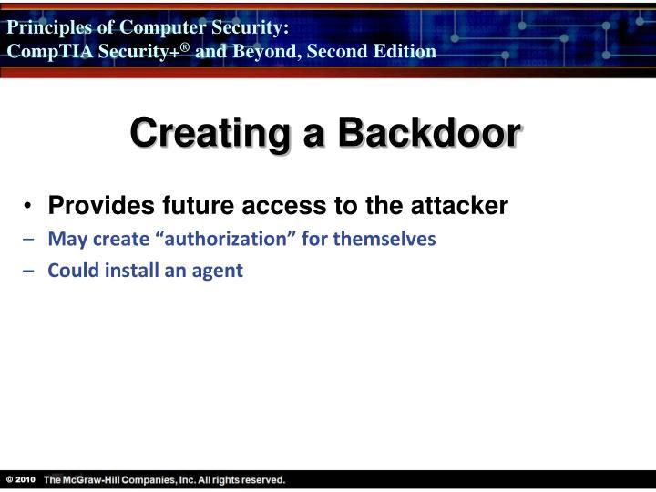 Creating a Backdoor
