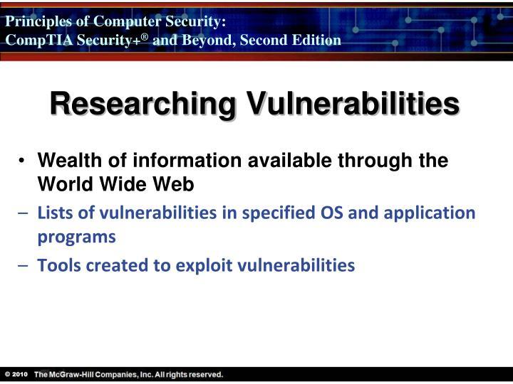 Researching Vulnerabilities