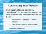customizing your website