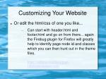 customizing your website35