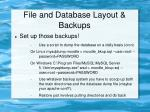 file and database layout backups22