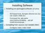 installing software