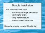 moodle installation18