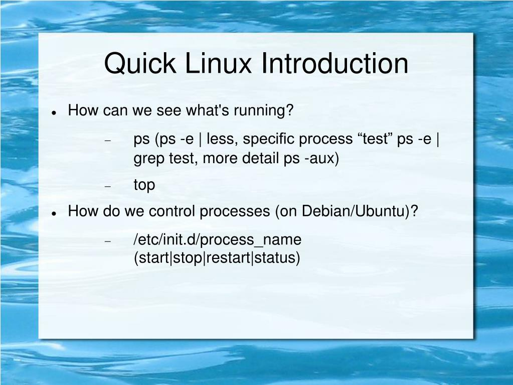 Quick Linux Introduction