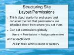 structuring site layout permissions