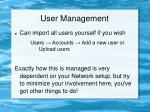 user management31