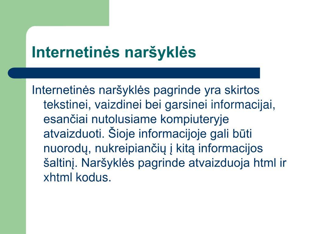 Internetinės naršyklės
