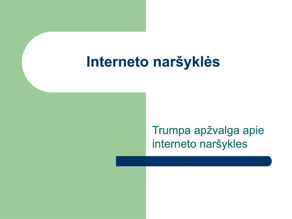 Interneto naršyklės