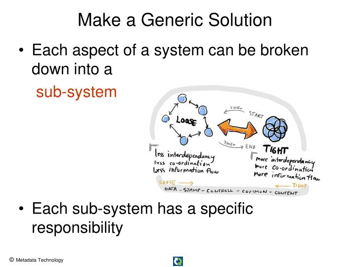 Make a Generic Solution