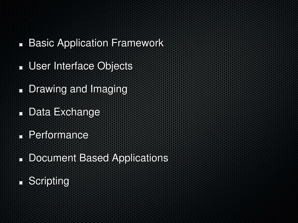 Basic Application Framework