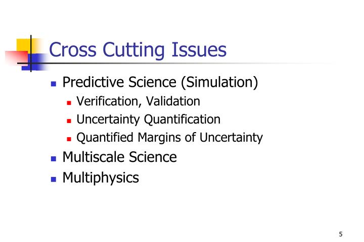 Cross Cutting Issues